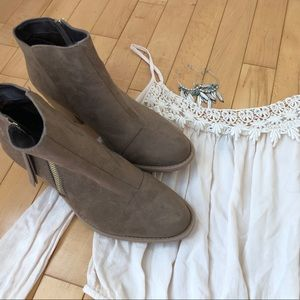 Charlotte Russe Shoes - Charolette Russe Size 8 Brown Ankle Boots